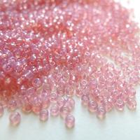 シードビーズ (JFF027 ピンク size:1.4mm 特小)    【4g】