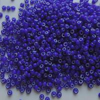 シードビーズ (JFF325 ブルー・ホワイトハート size:1.9mm 丸小)    【4g】