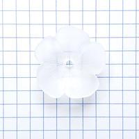 カップ型 フラワービーズ/5枚花 (FJ368 スリホワイト)