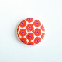 フラワープリントボタン(JB486115 22mm バーミリオン)
