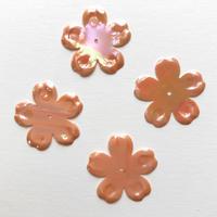 フラワースパンコール Φ23mm(FSCA245  オーロラオレンジ)【4枚】