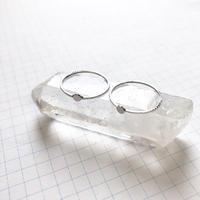貼り付けリングパーツ・平皿(Φ3mm シルバー)  【2個セット】
