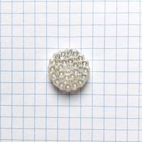 クリアドットガラスボタン 二つ穴 ・M(Φ17mm×3mm クリア)