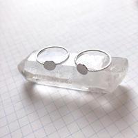 貼り付けリングパーツ・平皿(Φ6mm シルバー)  【2個セット】