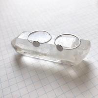 貼り付けリングパーツ・平皿(Φ5mm シルバー)  【2個セット】