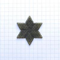 ヴィンテージ メタル透かしパーツ(六芒星S Φ35mm アンティークゴールド)