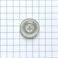 サンドウィッチボタン (Φ15mm シルバー)
