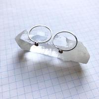 貼り付けリングパーツ・カップ型 S(Φ3mm×1mm シルバー)  【2個セット】