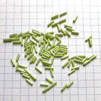 ヴィンテージフランス 竹(チューブ)ビーズパック(No.41 ライムグリーン)    【1.2g入り】