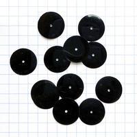 スパンコール ラウンド 14mm(FSCA571 ブラック)【0.5g】