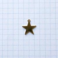カン付き星メタルチャーム(FJ1059 ゴールド)【2個セット】