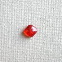 スクエアビーズ クリア(FJ24 オレンジ ) 【2個セット】