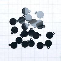 カン付きスパンコール 10mm×8mm(FFS054  マットブラック)【20枚セット】