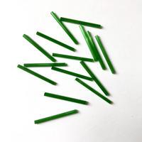 現代フランス 竹(チューブ)ビーズパック(No.1 グリーン)    【15本入り】