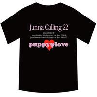 森下純菜2013年「Junna Calling22」ライブ限定Tシャツpuppyloveダブルネーム(ブラック/サイズS)