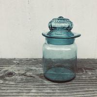 【古道具81】古い 小さなキャンディーポット  蓋付菓子瓶