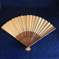 【雑貨12】桐の  木目が美しい天然木の扇子