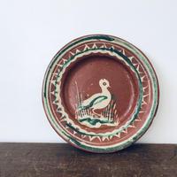 【古道具132】 小鳥の絵皿