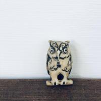 【古道具122】愛らしい 小さな ミミズク(フクロウ) オブジェ