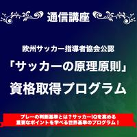 【AEFCA公認SOCCER HUB】「サッカーの原理原則」資格取得プログラム