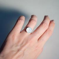 ring [circle] (白蝶貝/silver) [受注制作]