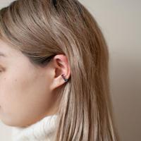 ear cuff/ K10YG - ブルートパーズ×ガーネット