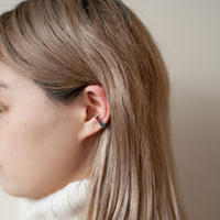 ear cuff/ K10YG - ロンドンブルートパーズ×ロードライトガーネット