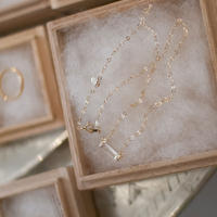 necklace B / K10YG - ゴールドルチルクォーツ