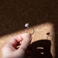 ring / K10YG greeting - 淡水パール(VG)