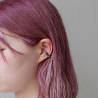 ear cuff/ K10YG - スモーキークオーツ