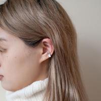 ear cuff/ K10YG - 白蝶貝×水晶