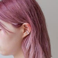 ear cuff/ K10YG - つや消し水晶