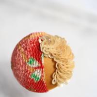刺繍ブローチ(Kurumi和)トパーズ(11月誕生石)