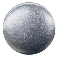 箔のバッジ 銀