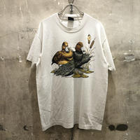USA製90s カルガモアニマルプリントTシャツ