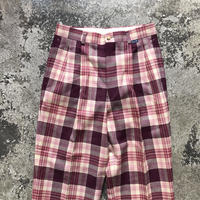 used ELLE CHECK WOOL PANTS
