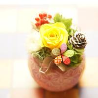 【プリザーブド】お正月アレンジメント/yellow