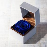 ダイヤモンドプリザーブドローズのジュエリーボックス【blue】