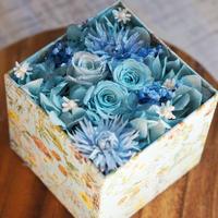 プリザーブドアレンジBOX /blue