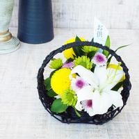 【生花】メモリアル ユリとマムのアレンジメント