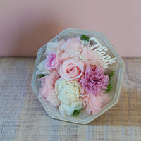 【プリザーブドフラワー】ThanksアレンジメントS/Pink