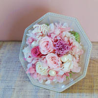 【プリザーブドフラワー】ThanksアレンジメントM/Pink