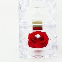 プリザーブドローズのジュエリーBOXアレンジメント【pure red】