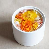 【プリザーブド】Autumnミニアレンジメント/Orange&Yellow