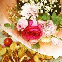 【生花定期便/週1回お届け】自分にご褒美プラン/旬の花のブーケ
