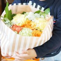 【生花】母の日ブーケギフト/ORANGE