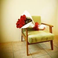 【生花】深紅のローズブーケ *シーンに合わせて本数をお選びください(648円/1本)