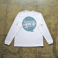 Drip Logo L/S Tee Shirt - White/Light Blue