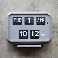 "Twemco Digital Calendar Clock #QD-35 ""Gray"""