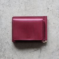 Original Money Clip Wallet - Wine Red/Yellow